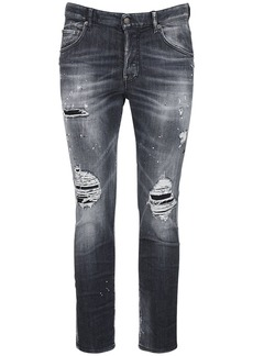 Dsquared2 16.5cm Skater Stretch Cotton Denim Jeans