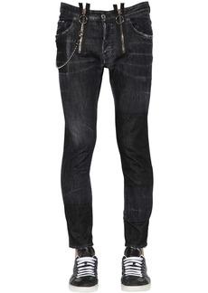 Dsquared2 16cm Skater Cotton Denim Jeans W/ Zips