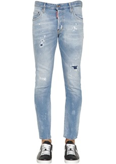 Dsquared2 16cm Skater Denim Jeans W/ Back Patches