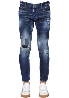 Dsquared2 16cm Skater Destroyed Cotton Denim Jeans