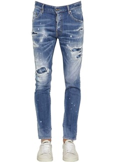 Dsquared2 16cm Skater Stretch Cotton Denim Jeans
