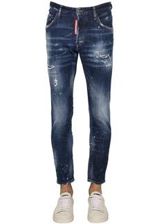Dsquared2 17cm Skater Cotton Denim Jeans