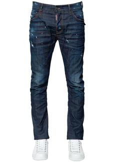 Dsquared2 17cm Tidy Biker Flap Pocket Denim Jeans