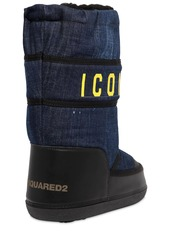 Dsquared2 20mm Icon Denim & Leather Snow Boots