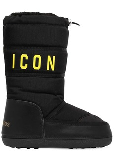 Dsquared2 20mm Icon Nylon & Leather Snow Boots