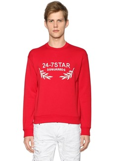 Dsquared2 24-7 Embroidery Cotton Jersey Sweatshirt