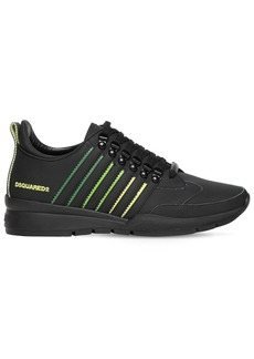 Dsquared2 251 Rubberized Leather Low-top Sneakers