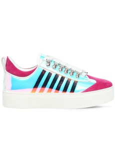 Dsquared2 30mm 251 Pvc & Suede Sneakers