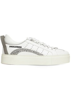 Dsquared2 30mm 551 Leather & Glitter Sneakers
