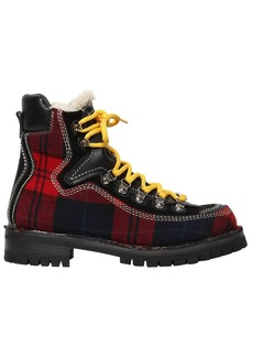 Dsquared2 40mm Canada Plaid Hiking Boots
