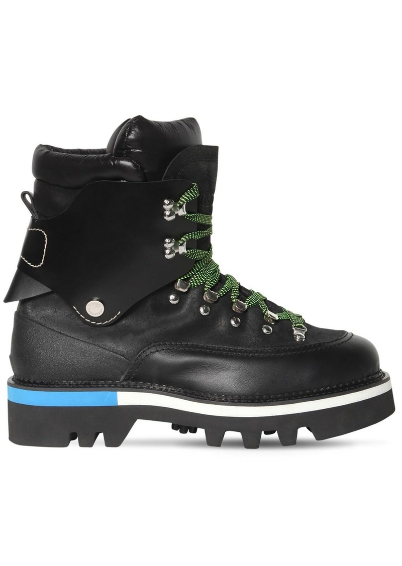 Dsquared2 50mm Leather Ankle Hiking Boots