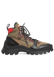 Dsquared2 55mm Tank Cliff Nylon & Leather Boots