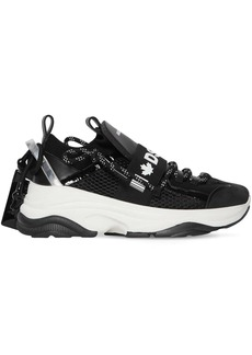 Dsquared2 70mm D-bumpy One Leather & Mesh Sneakers