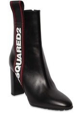 Dsquared2 90mm Evolution Tape Leather Ankle Boots