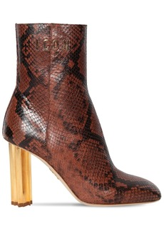 Dsquared2 90mm Leaf Python Print Leather Boots