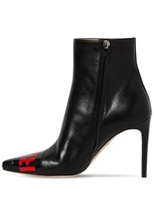 Dsquared2 90mm Logo Leather Ankle Boots