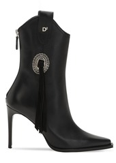 Dsquared2 90mm Rodeo Leather Ankle Boots