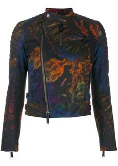 Dsquared2 acid print biker jacket