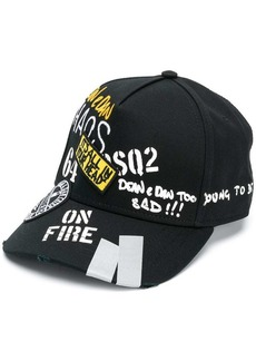 Dsquared2 all-over logo print cap