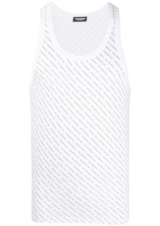 Dsquared2 all-over logo tank top