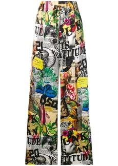 Dsquared2 all-over print palazzo trousers