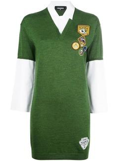 Dsquared2 appliqué patch shirt-dress