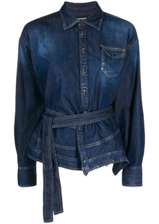 Dsquared2 asymmetric denim shirt