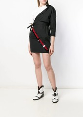 Dsquared2 asymmetric logo mini dress