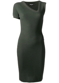 Dsquared2 asymmetric neck knitted dress
