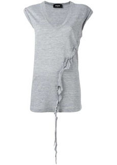 Dsquared2 asymmetric twisted T-shirt