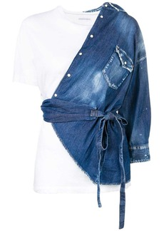 Dsquared2 asymmetrical deconstructed denim shirt