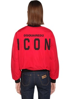 Dsquared2 Back Logo Nylon Taffeta Jacket