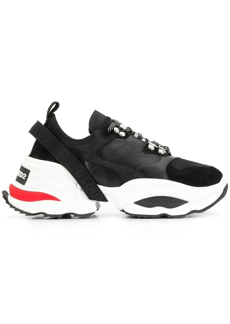 Dsquared2 backyard punk platform sneakers
