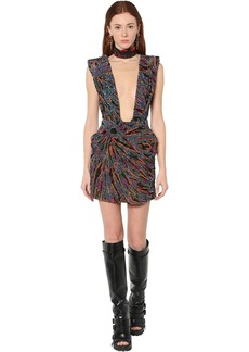 Dsquared2 Bead Embellished Mini Dress