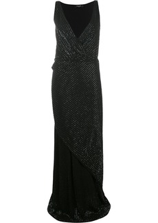 Dsquared2 bead-embellished wrap dress