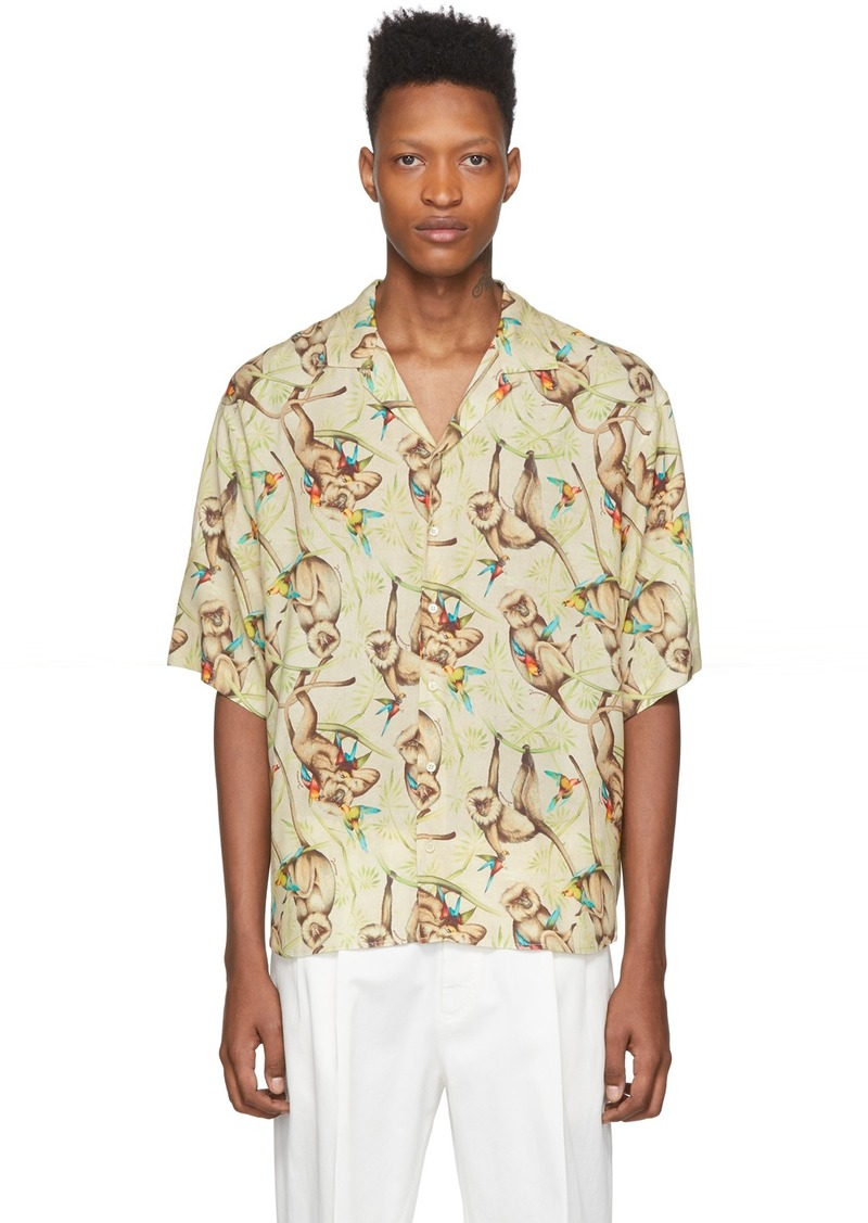 Dsquared2 Beige Killer Monkey Bowling Shirt