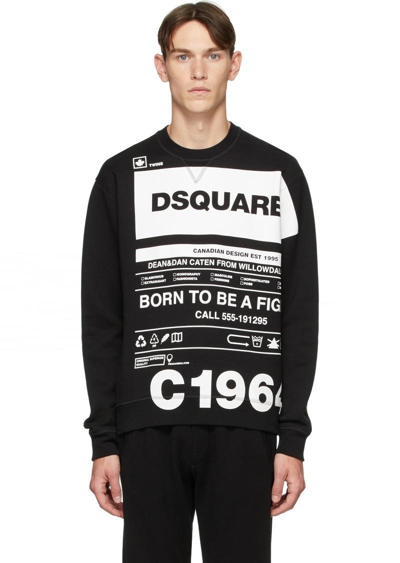 Dsquared2 Black Cool Fit Logo Graphic Sweatshirt
