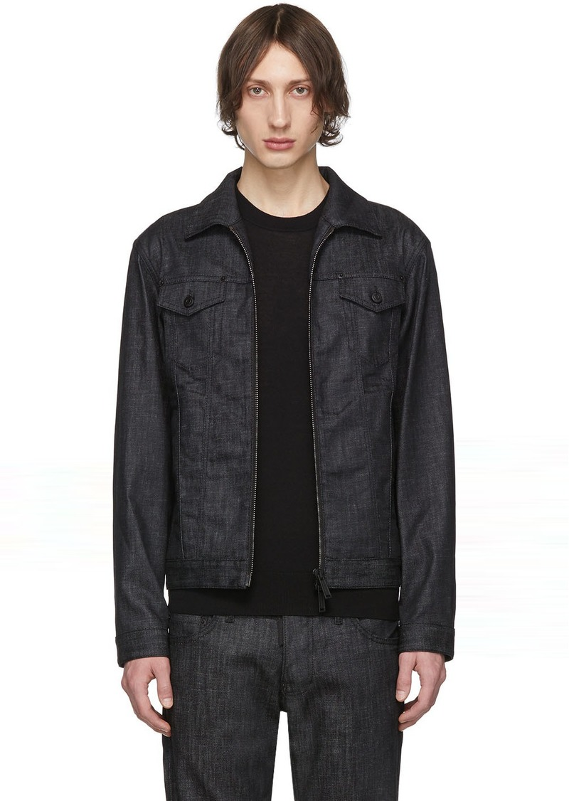 Dsquared2 Black Denim Boxy Jacket