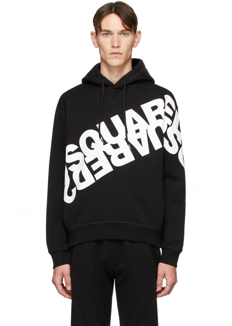 Dsquared2 Black Mirrored Logo Hoodie