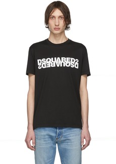 Dsquared2 Black Mirrored Logo T-Shirt