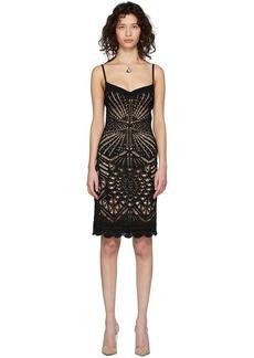 Dsquared2 Black Open Knit Dress