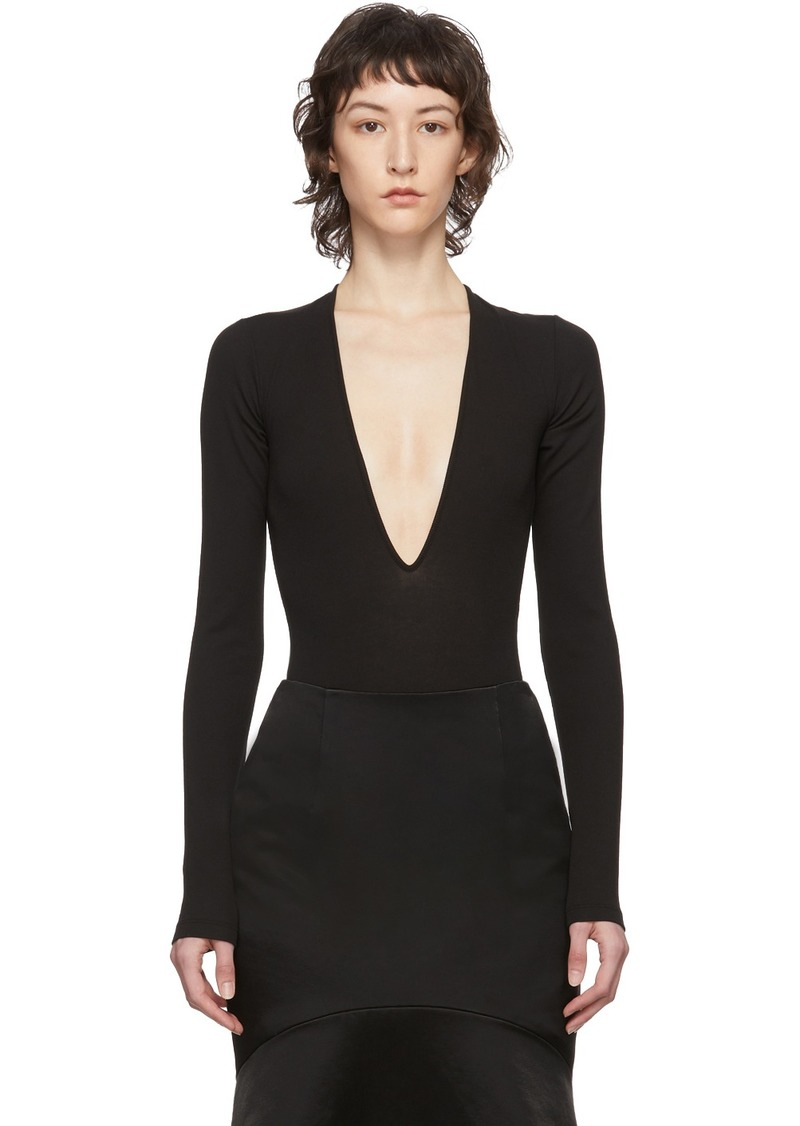Dsquared2 Black Rib Long Sleeve Bodysuit