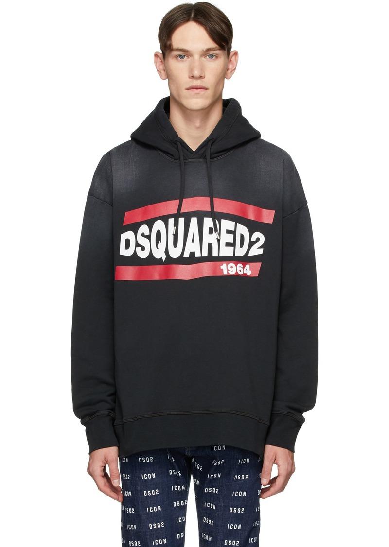 Dsquared2 Black Vintage Slouch Fit Hoodie