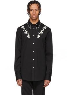 ec333c24977 Dsquared2 Black Wool Chic Western Shirt