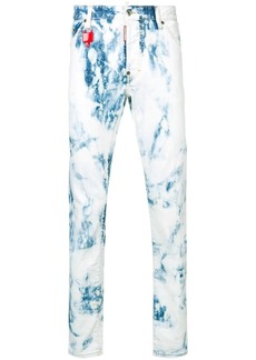 Dsquared2 bleach wash skinny trousers