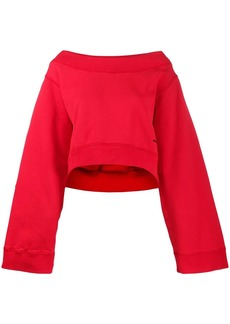 Dsquared2 boat neck oversized sweatshirt