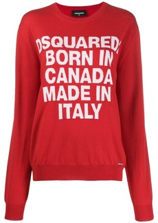 Dsquared2 Born In Canada knit sweater