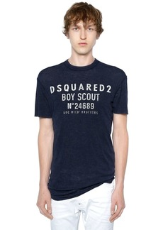 Dsquared2 Boy Scout Printed Wool Jersey T-shirt