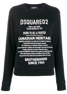 Dsquared2 Brand Description print sweater