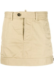 Dsquared2 buttoned waist mini skirt